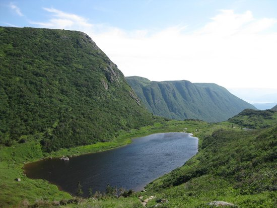 Gros Morne National Park: a gorgeous lake on our hike down