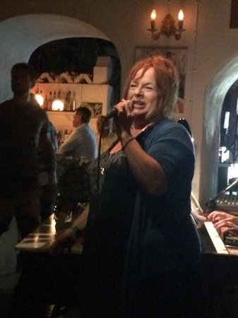 "Montparnasse - The Piano Bar: The main entertainment - the fabulous Kathy ""Babe"" Robinson"