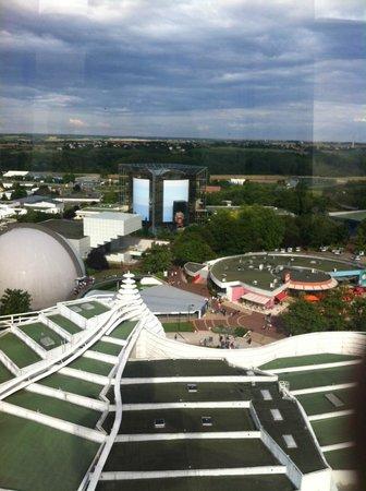 Futuroscope : Vue du parc depuis la tour panoramique