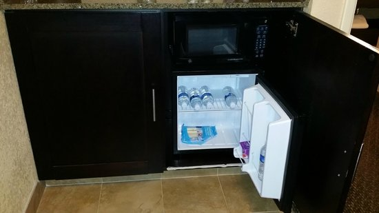 Embassy Suites by Hilton Hotel Phoenix - Tempe: Cabinet door must remain open for refrigerator to operate efficiently