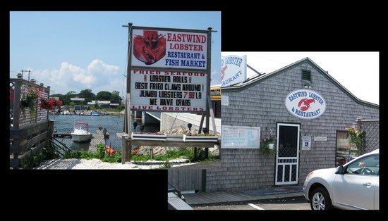 East Wind Lobster and Grille: from the outside....there was more outdoor seating in back