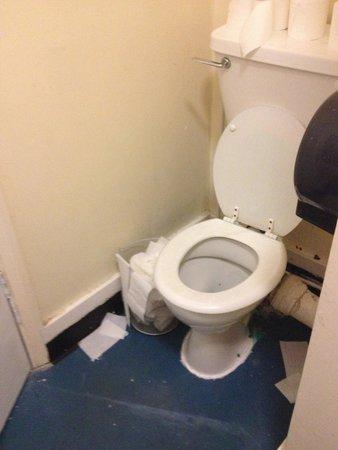 The Lonsdale Hotel: La foto non rende lo schifo del bagno...il cestino era pieno da giorni. Bagno condiviso