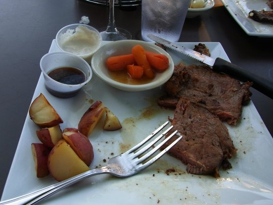 Billy's Sports Grill: Billy's Sports Bar - Prime Rib with roasted red potatoes, pearl onions & baby carrots