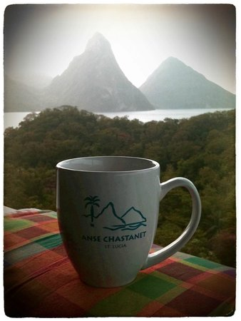 Anse Chastanet : Morning Coffee - View from Hillside Deluxe room