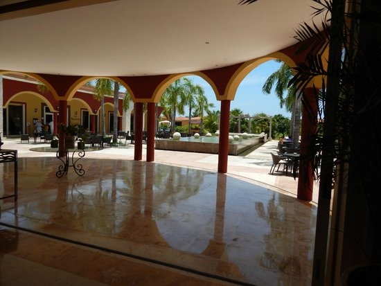 Ocean Maya Royale: From reception looking out towards restaurants