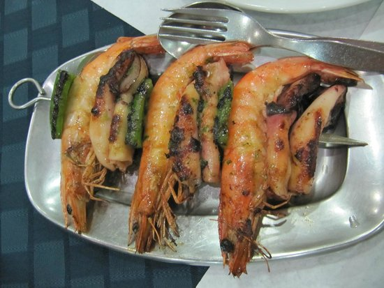 A Bica : squid and shrimp espetada
