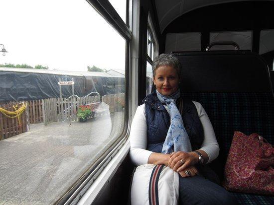 Downpatrick & County Down Railway: me, inside the train