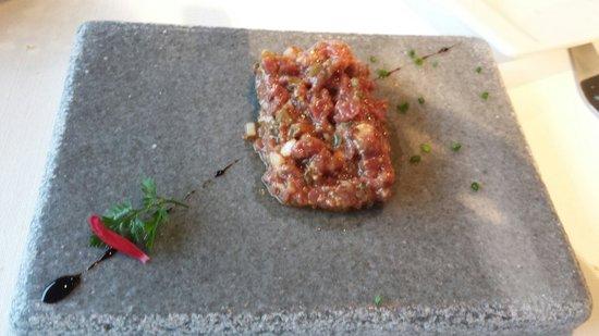 Restaurante Solana: steak tartar exquisito