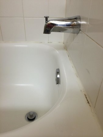 Extended Stay America - Seattle - Redmond: Moldy caulk around the tub