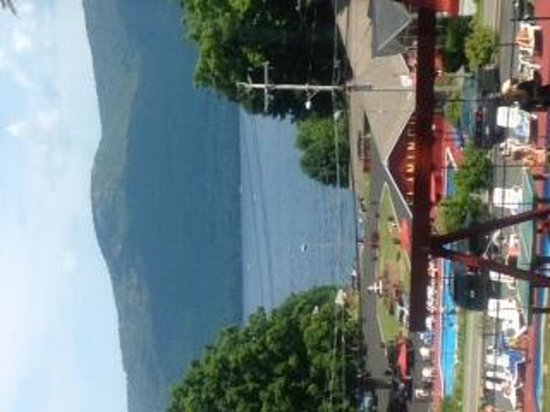 Flamingo Resort on Lake George: View from west side