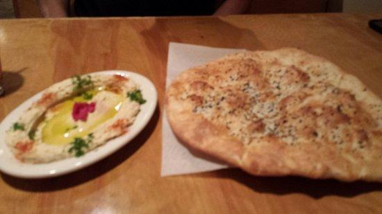 Arabesque: Hummus and sesame seeds bread