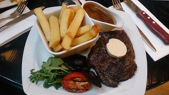 Browns Brasserie & Bar: Rib Eye Steak