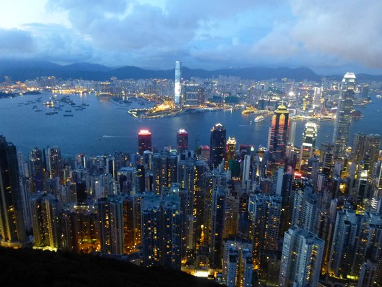 Hyatt Regency Hong Kong, Tsim Sha Tsui: Vue du pic  vue sur la baie HK