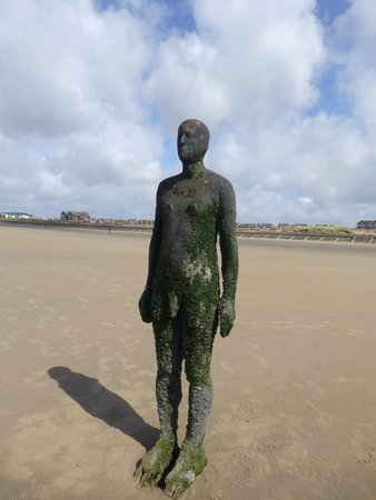 Antony Gormley's Another Place: Great setting on a beautiful sandy beach