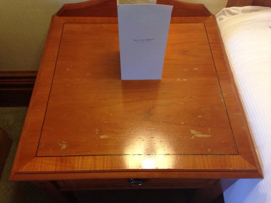 Hilton Puckrup Hall, Tewkesbury: The lovely 'deluxe' bed side table