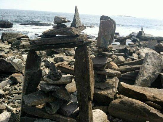 Casco Bay Islands: Rock towers on Peaks Island