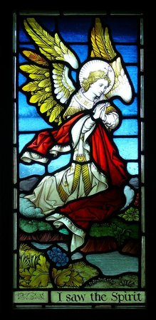 Saint Ann's Church: Detail from one of many stained glass windows.