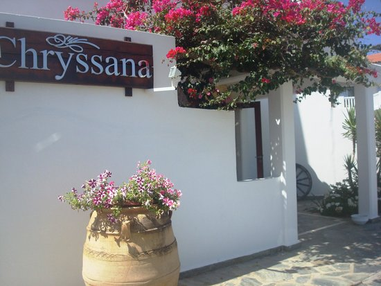 Chryssana Beach Hotel : Προς reception