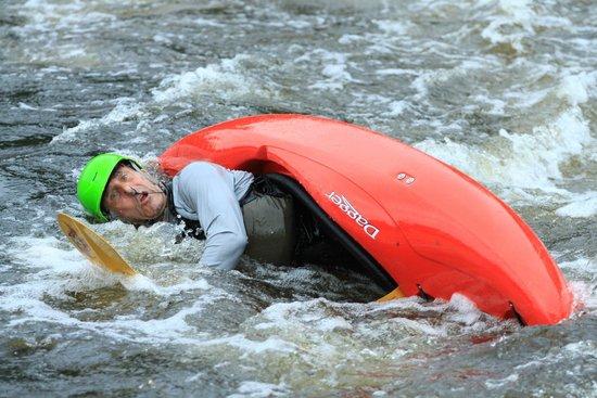 Madawaska Kanu Centre - Day Trips : Me doing my carp imitation
