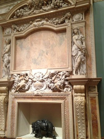 The Ringling: Marble fireplace at Ringling Art Museum