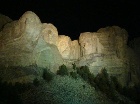 Mount Rushmore National Memorial: Mt. Rushmore at night