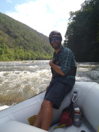 Rolling Thunder River Company: our fearless guide Chris