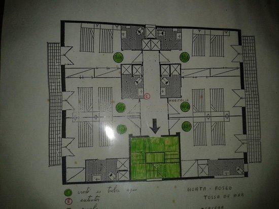 اوستال اورتا روسيل: Mapa planta