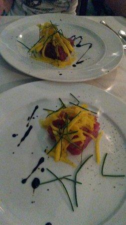 Osteria delle Storie di Mare: tartare di tonno e mango