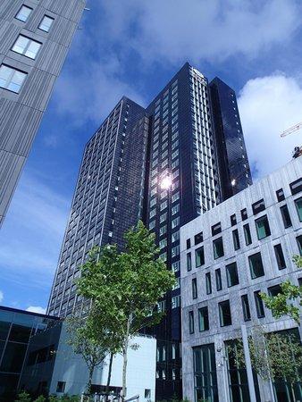 Crowne Plaza Copenhagen Towers: Vue de l'hotel du bas