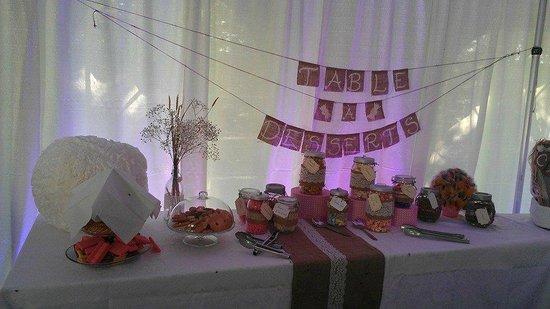 Chalet du Boise: Décoration de la table a Dessert