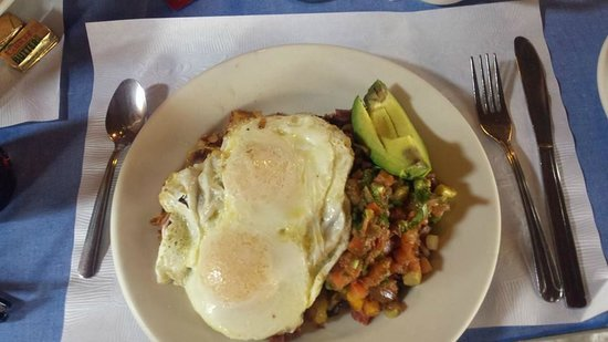 Artcliff Diner : Eggs, Southwestern Salsa on AD hash