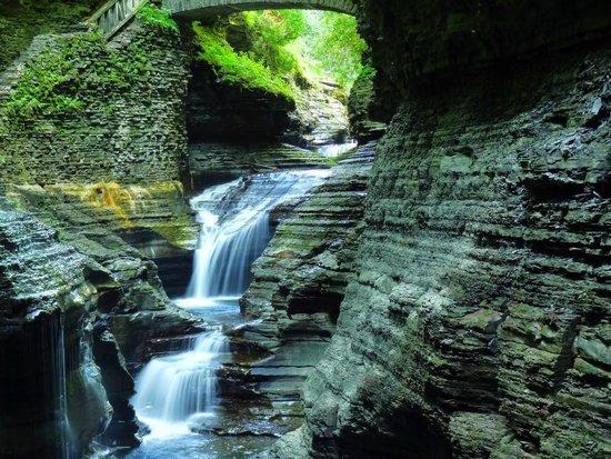 Watkins Glen State Park : Falls in Watkins Glen