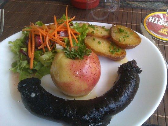 L'auberge des Peintres : Boudin noir aux pommes