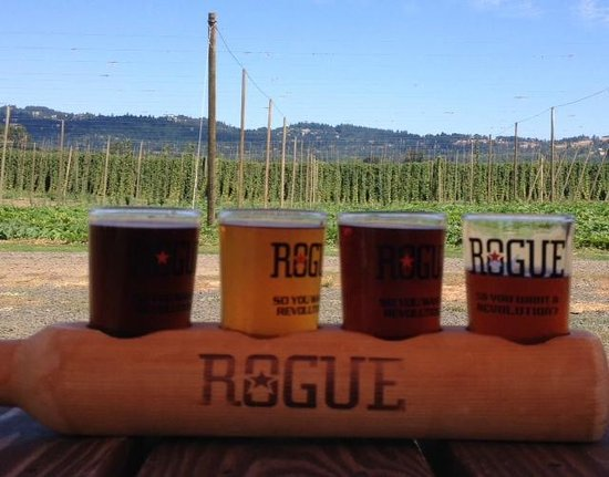 Rogue Farms Micro Hopyard : A scenic sampling of beers