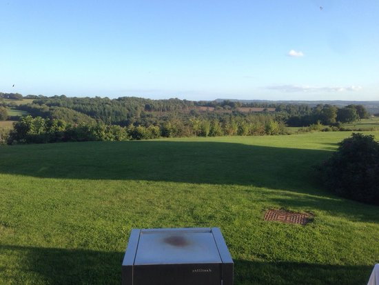 Swandown Lodges: View from patio over the Cricket St. Thomas estate