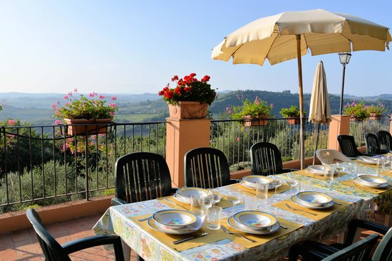 "Castello di Pastine: ""dining room"" terrace"