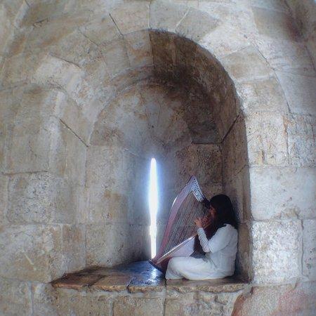 Jaffa Gate (Bab al-Khalil): Her music is beautiful :)