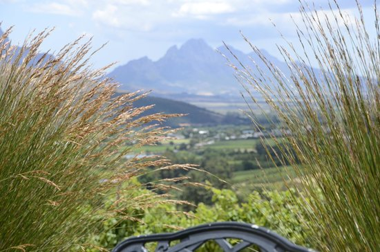 Dieu Donne: Great views of Franschhoek