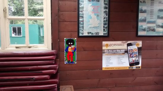 Lappa Valley Steam Railway: Passive racism on platform at entrance