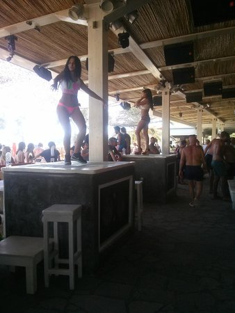 Stage Dancers at Elia Beach