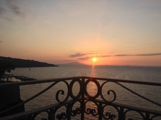 Grand Hotel Ambasciatori: Sunset from the balcony