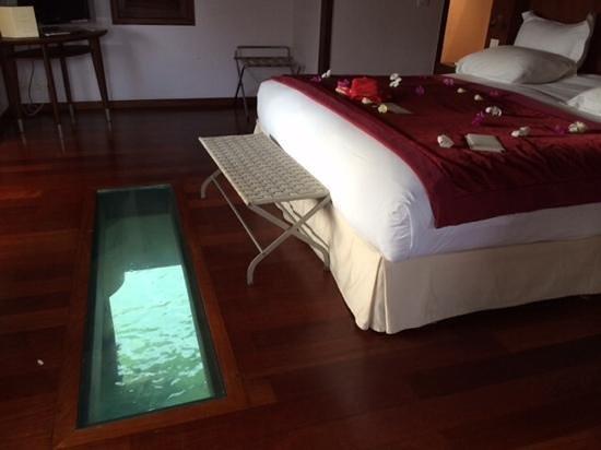 Sofitel Bora Bora Marara Beach Resort : interieur de bungalow