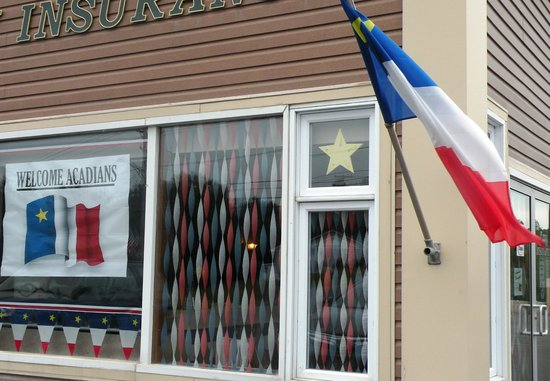 Madawaska buildings were proudly displaying the Acadian flags and Stella Maris.