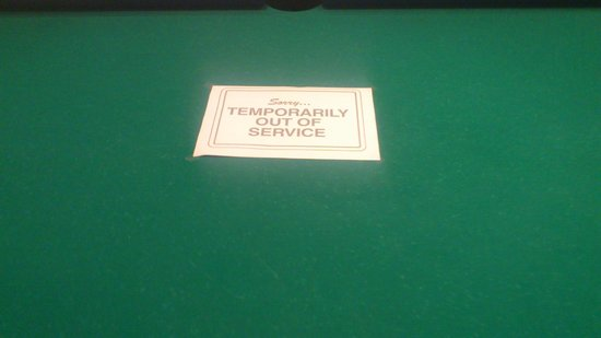 Mitsis Rhodos Village Beach Hotel: Pool Table 'Out of Order'