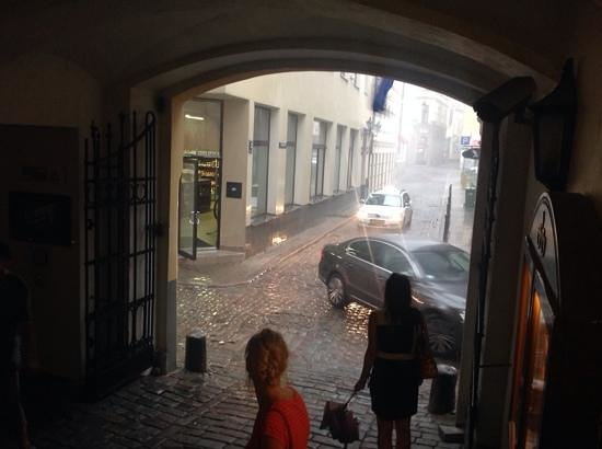 Rixwell Hotel Konventa Sēta : Rainy day in Riga