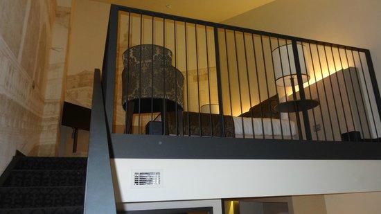 mezzanine avec lit king size