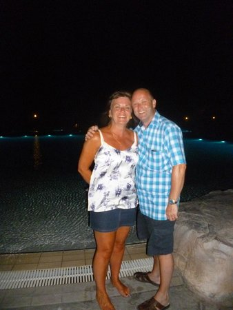 Atlantica Aegean Blue: Me and my wife by the pool