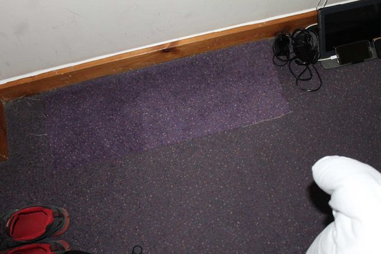 Premier Inn London Kings Cross Hotel: Carpet replaced but not fitted properly