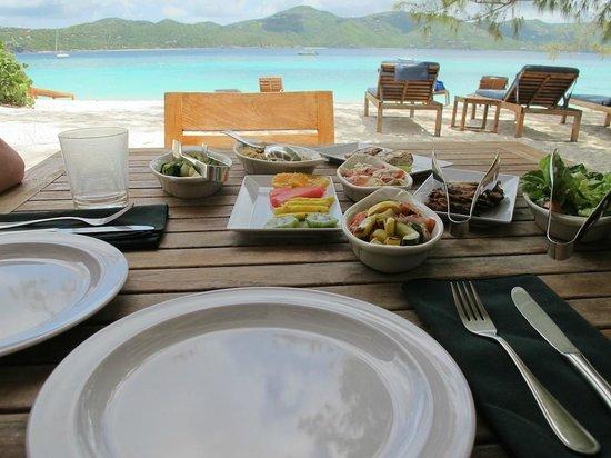 Guana Island : Lunch on the Beach