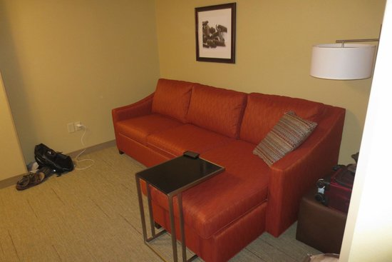 Hampton Inn & Suites Hershey Near The Park : Sitting area with pull out